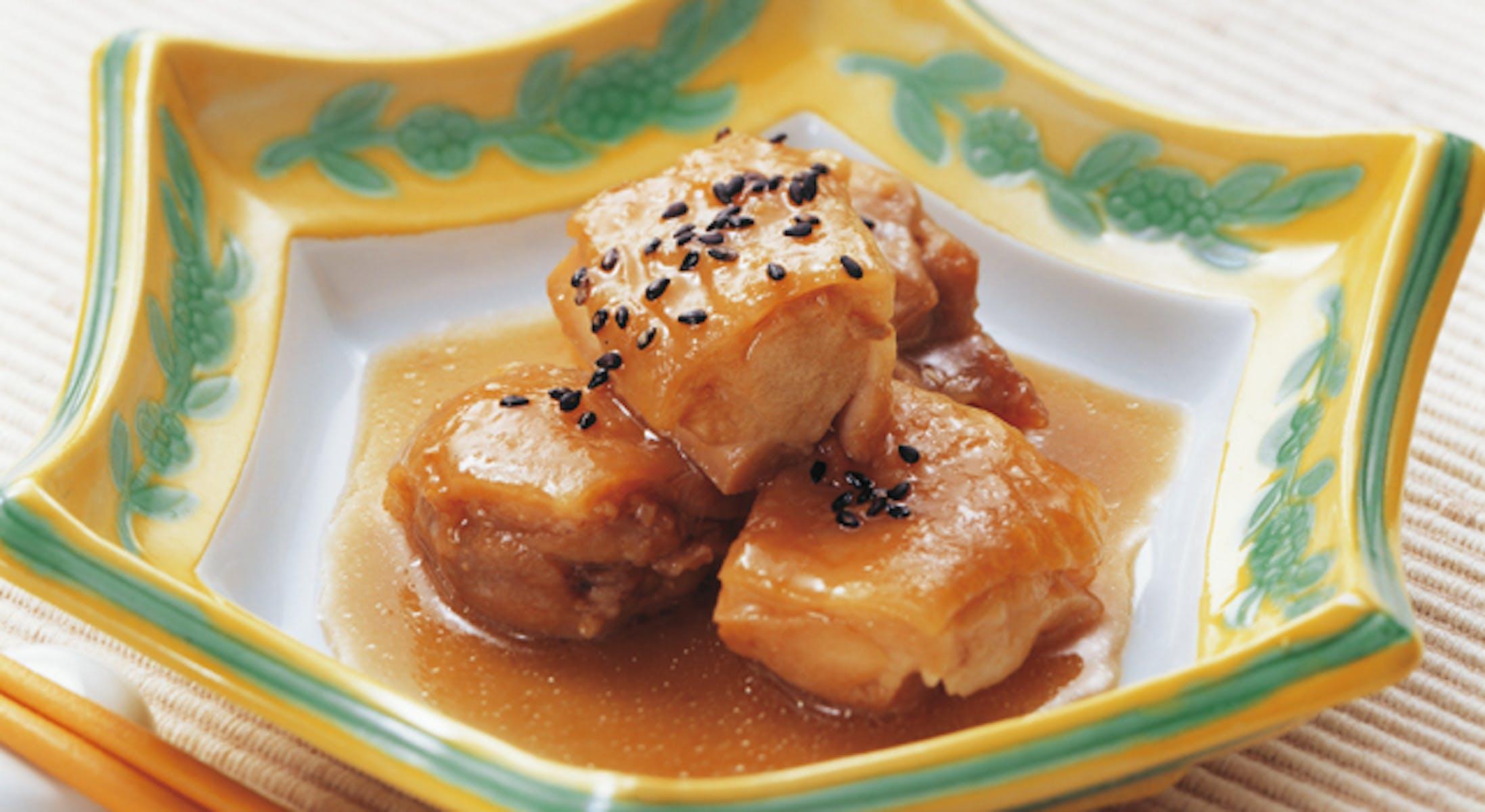 鶏肉の甘辛酒煮