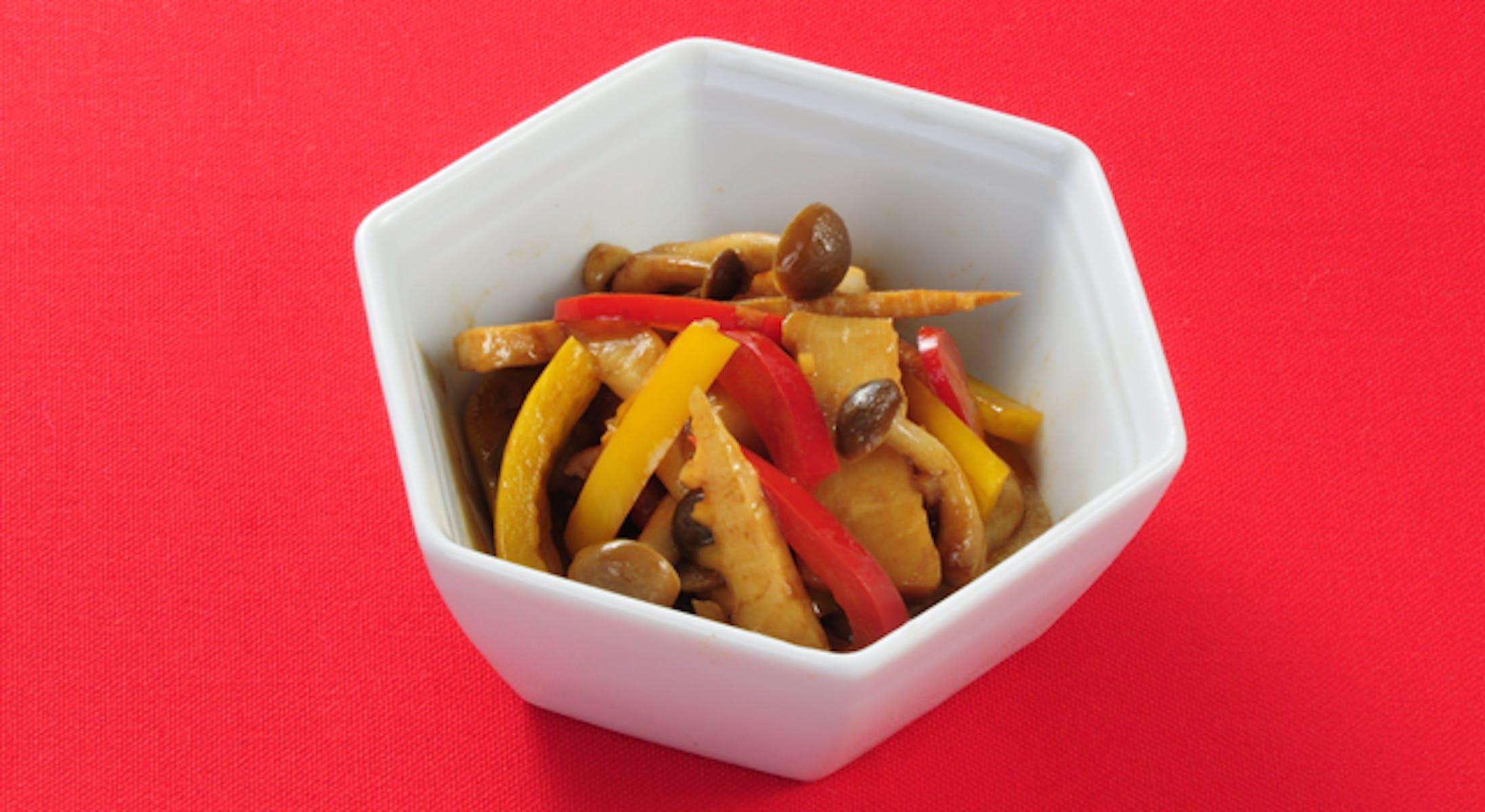 いろいろ野菜の甜麺醤炒め