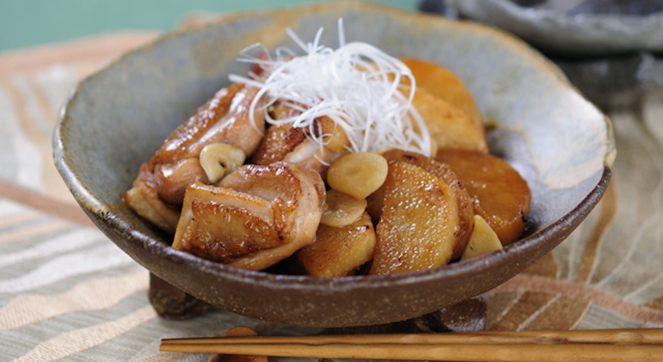 鶏肉と長いものこっくり煮