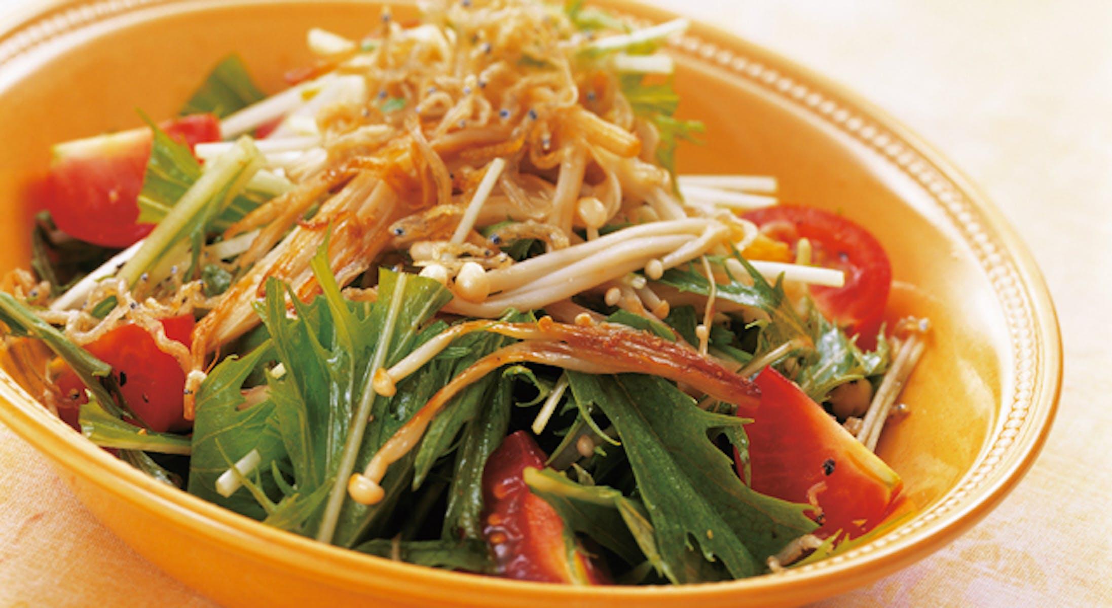 水菜とえのきの和風サラダ