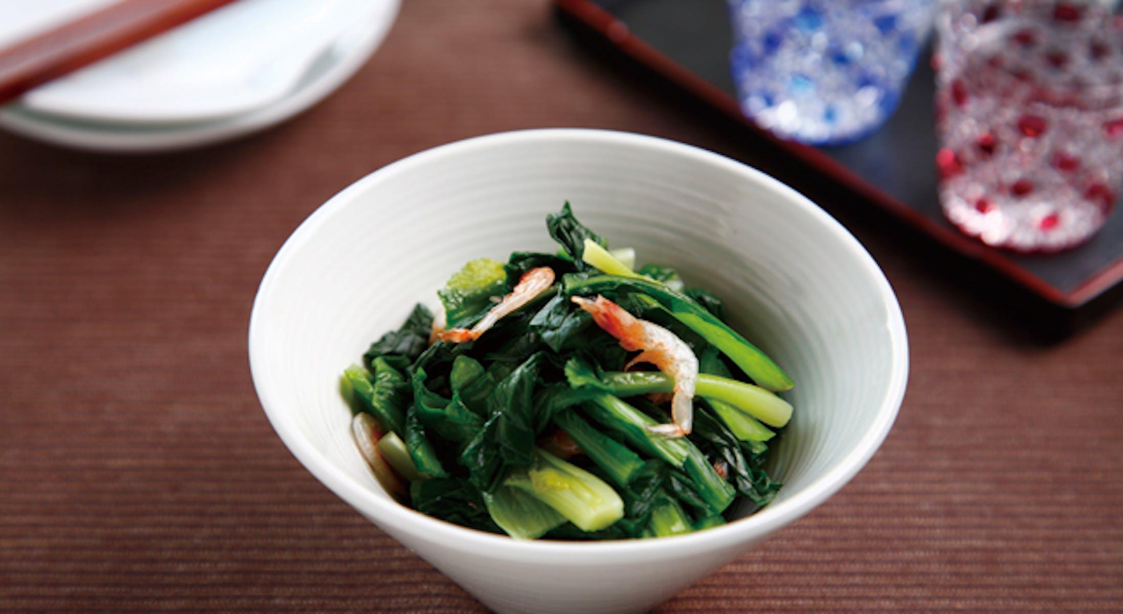 小松菜と桜えびの和え物