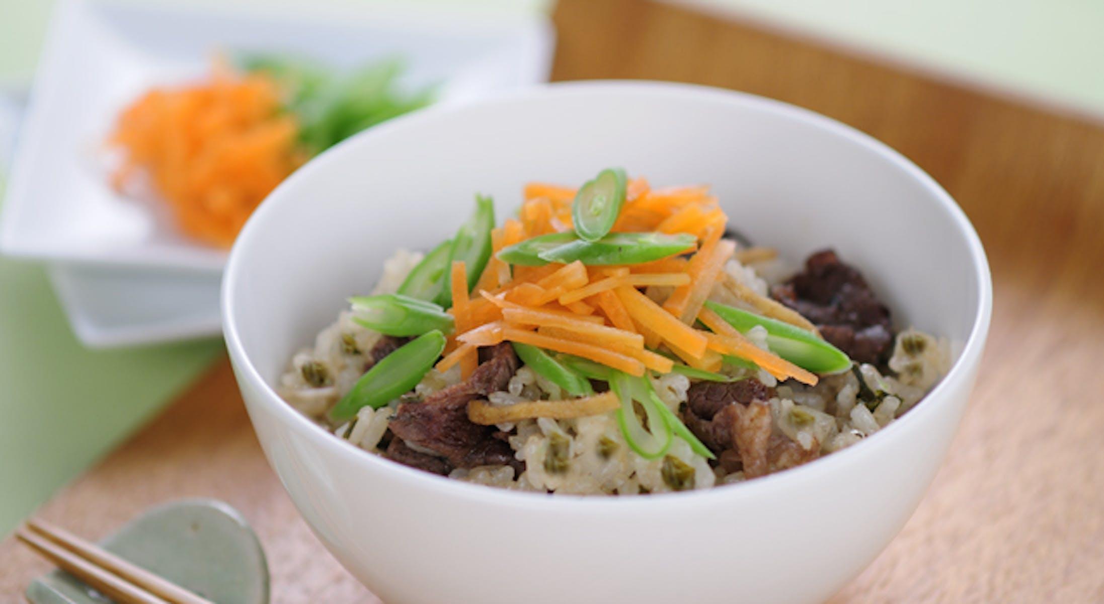牛肉と煎茶の佃煮風混ぜご飯