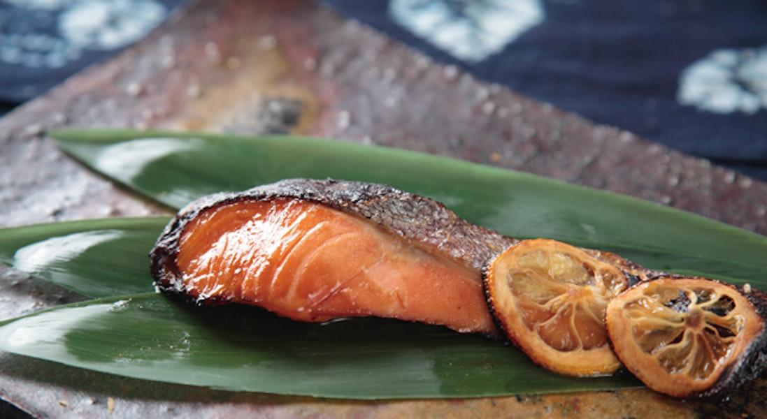 鮭のしっとり柚庵焼き