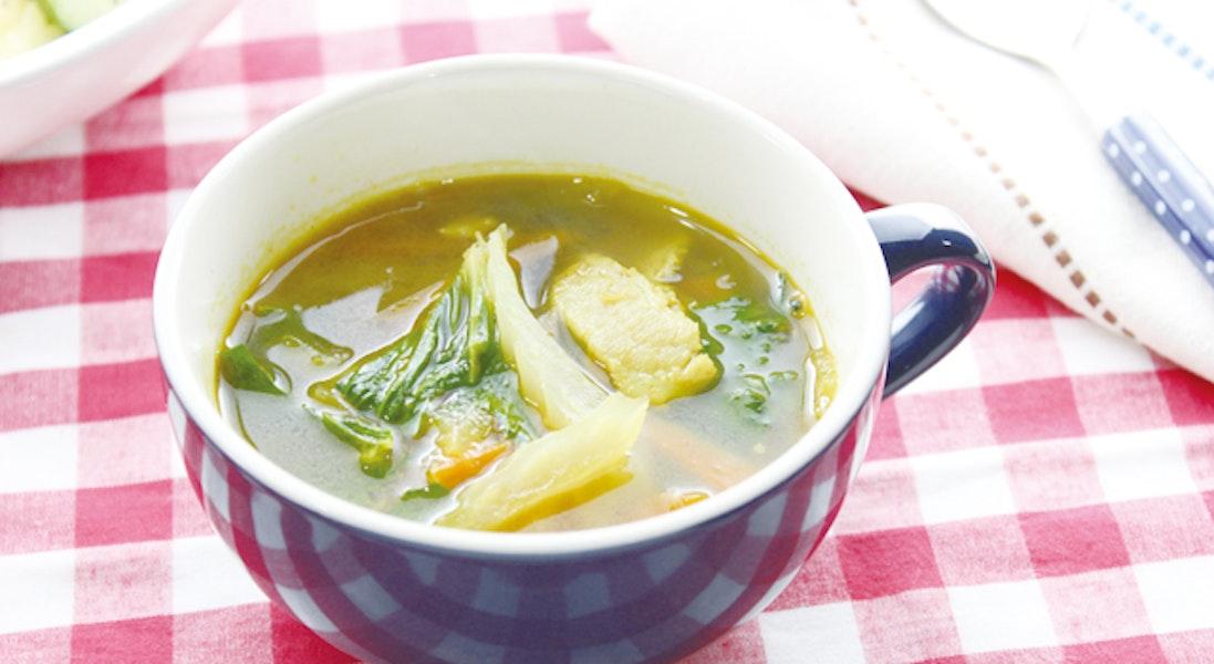 セロリのカレースープ