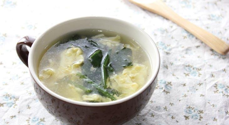 サラダほうれん草と豆腐の中華スープ
