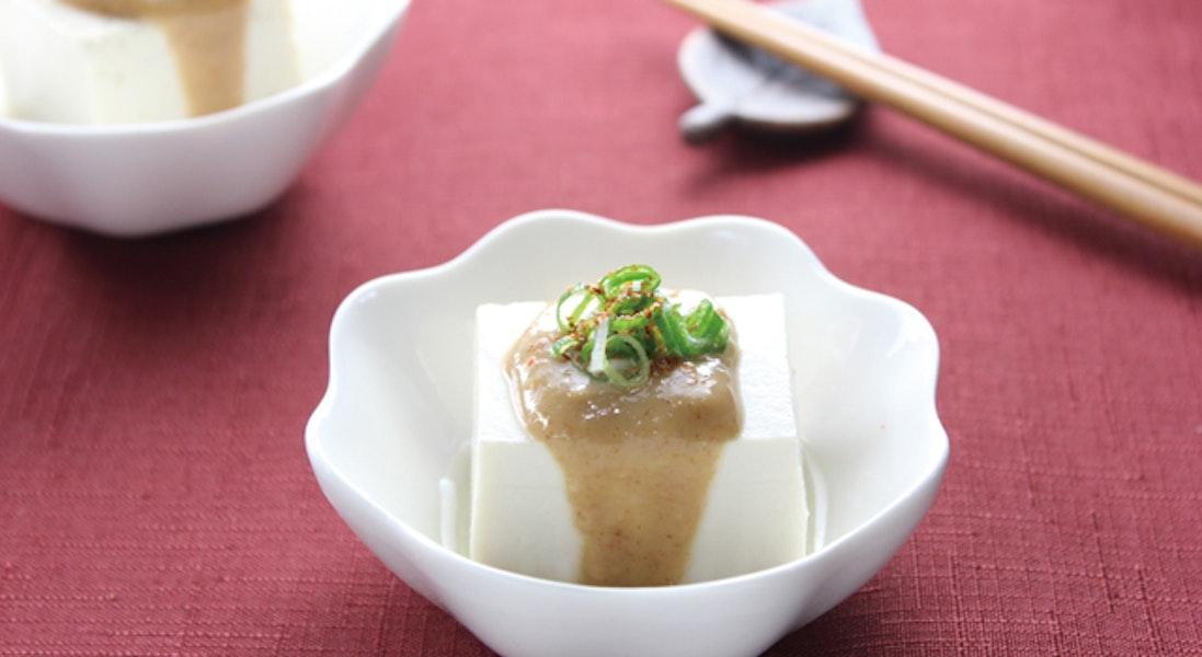 湯豆腐のピーナッツだれ