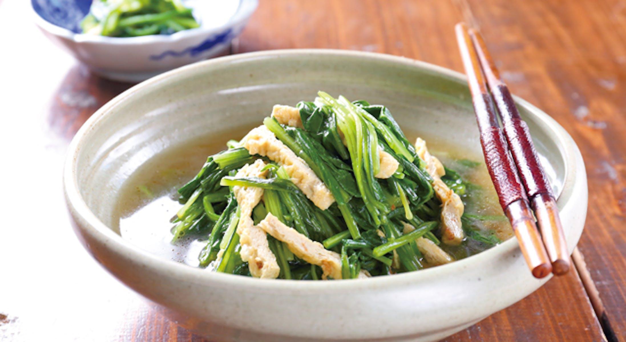 壬生菜とお揚げの炊いたん