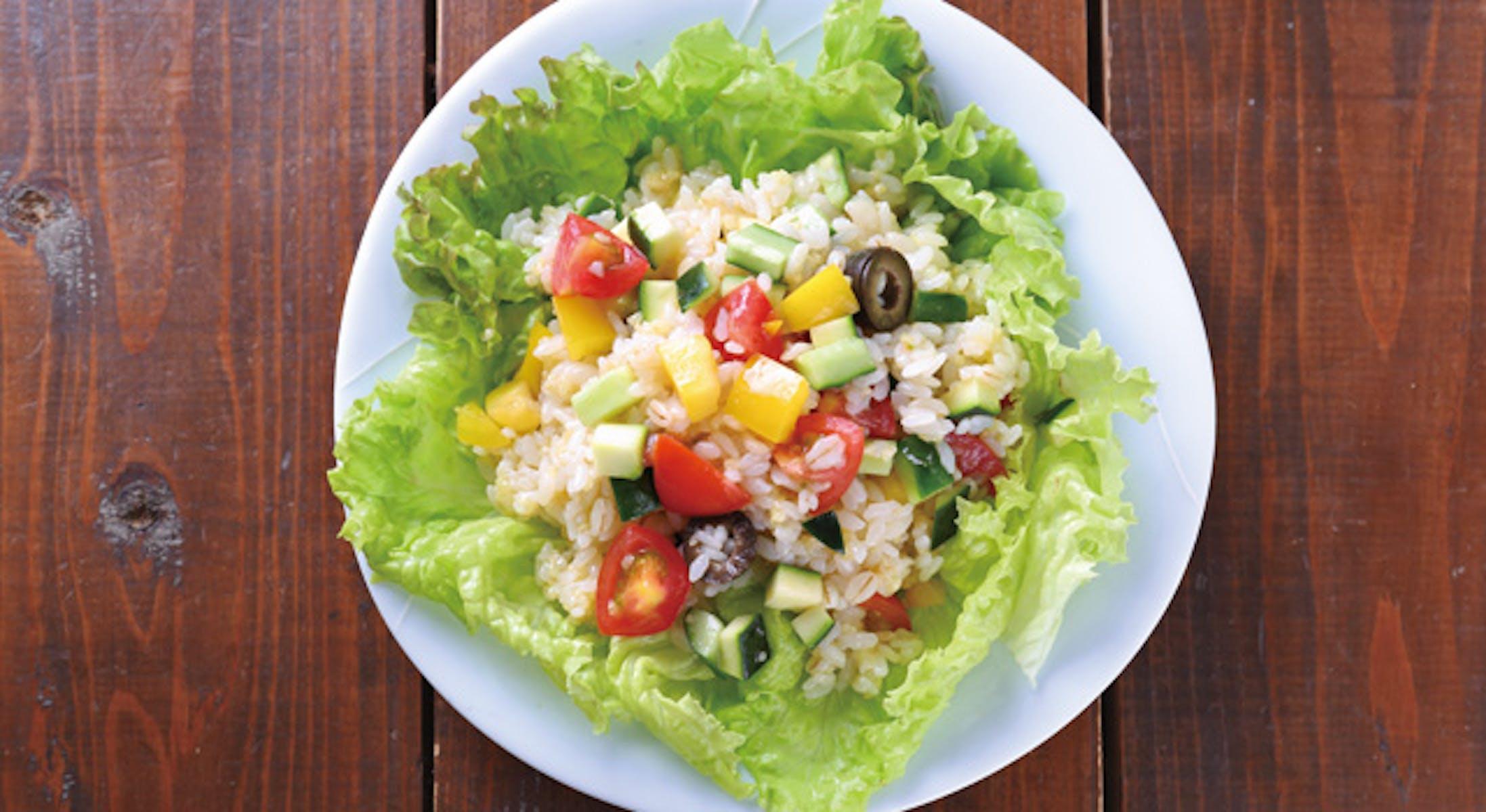 トマトの雑穀ライスサラダ
