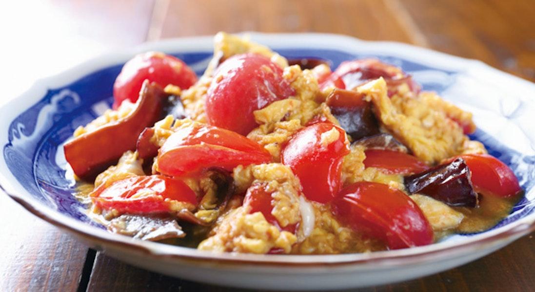 トマトと卵ときくらげの中華炒め