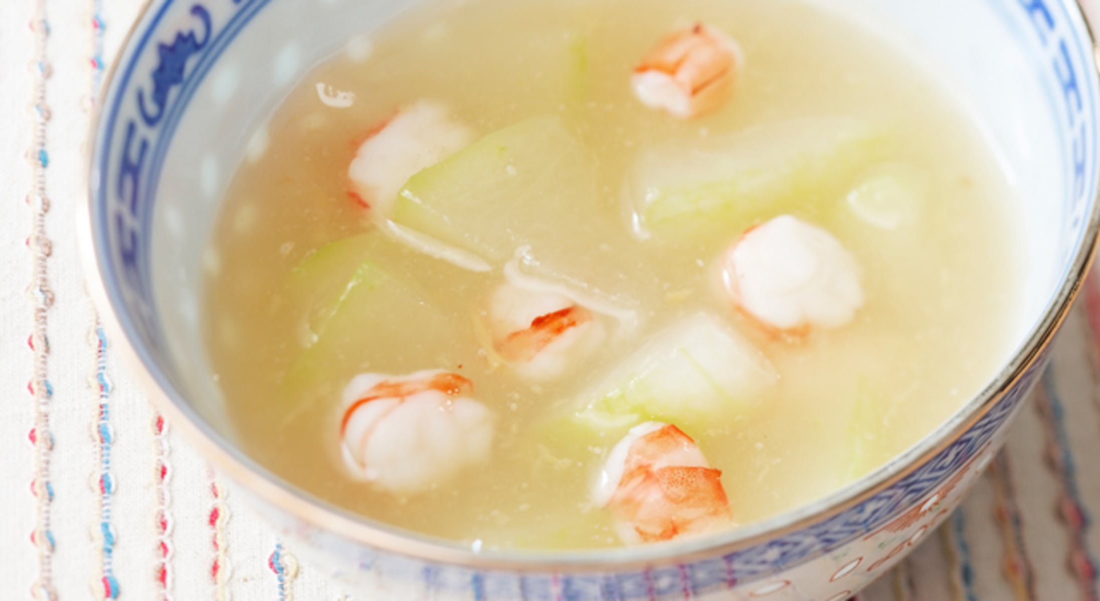 とうがんとえびのスープ