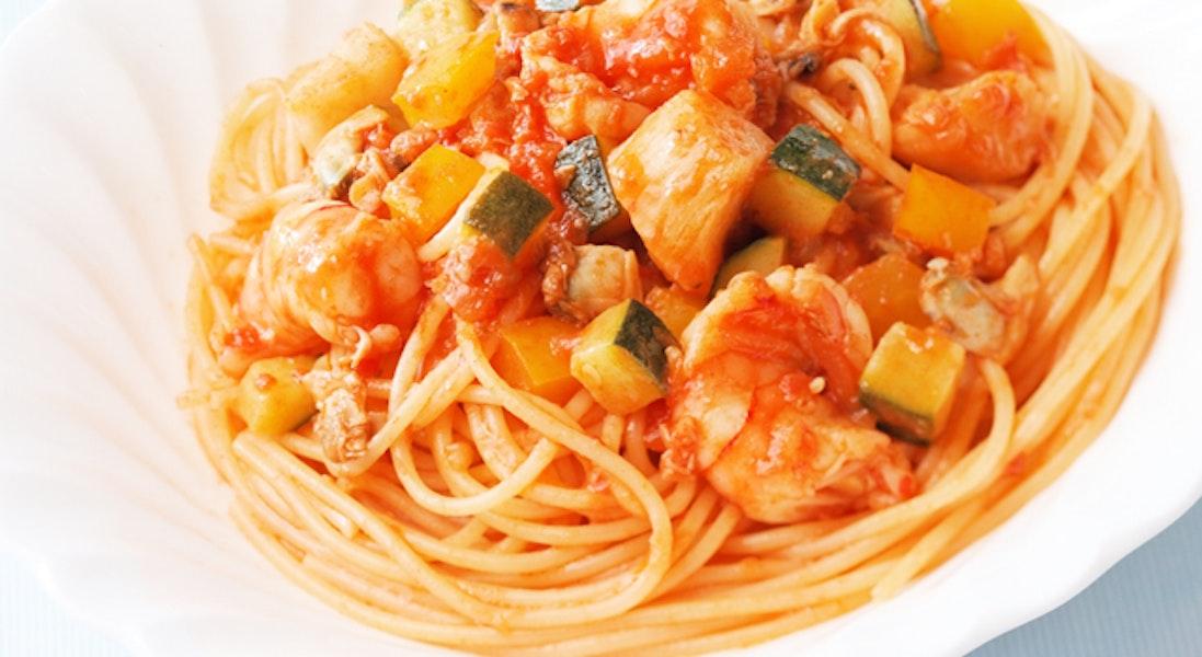 シーフードたっぷりスパゲッティ