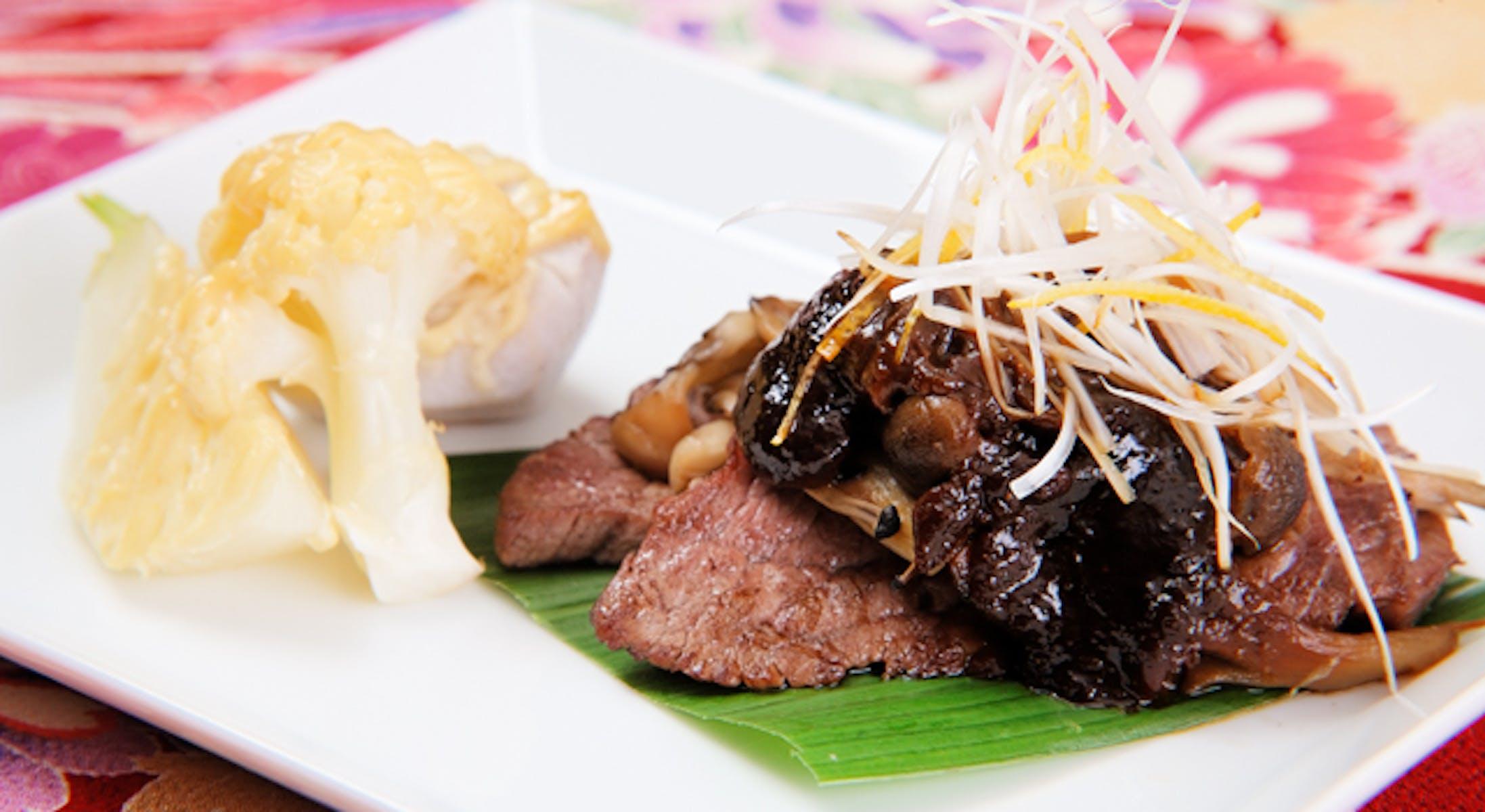 牛肉とたっぷり野菜の2色みそ焼き