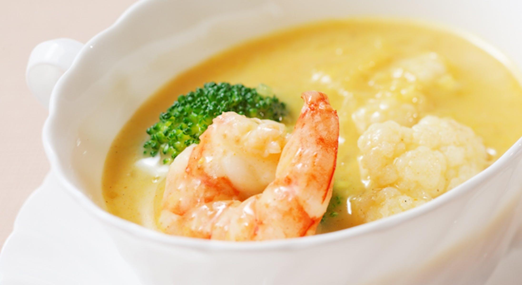 えびと冬野菜のカレースープ