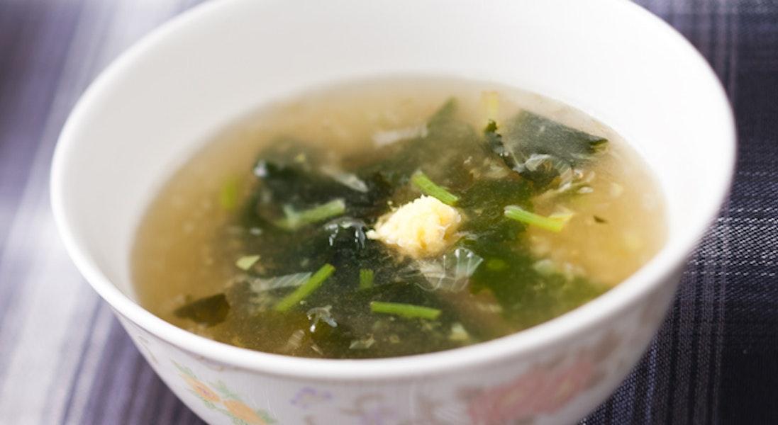 しょうがとわかめのスープ