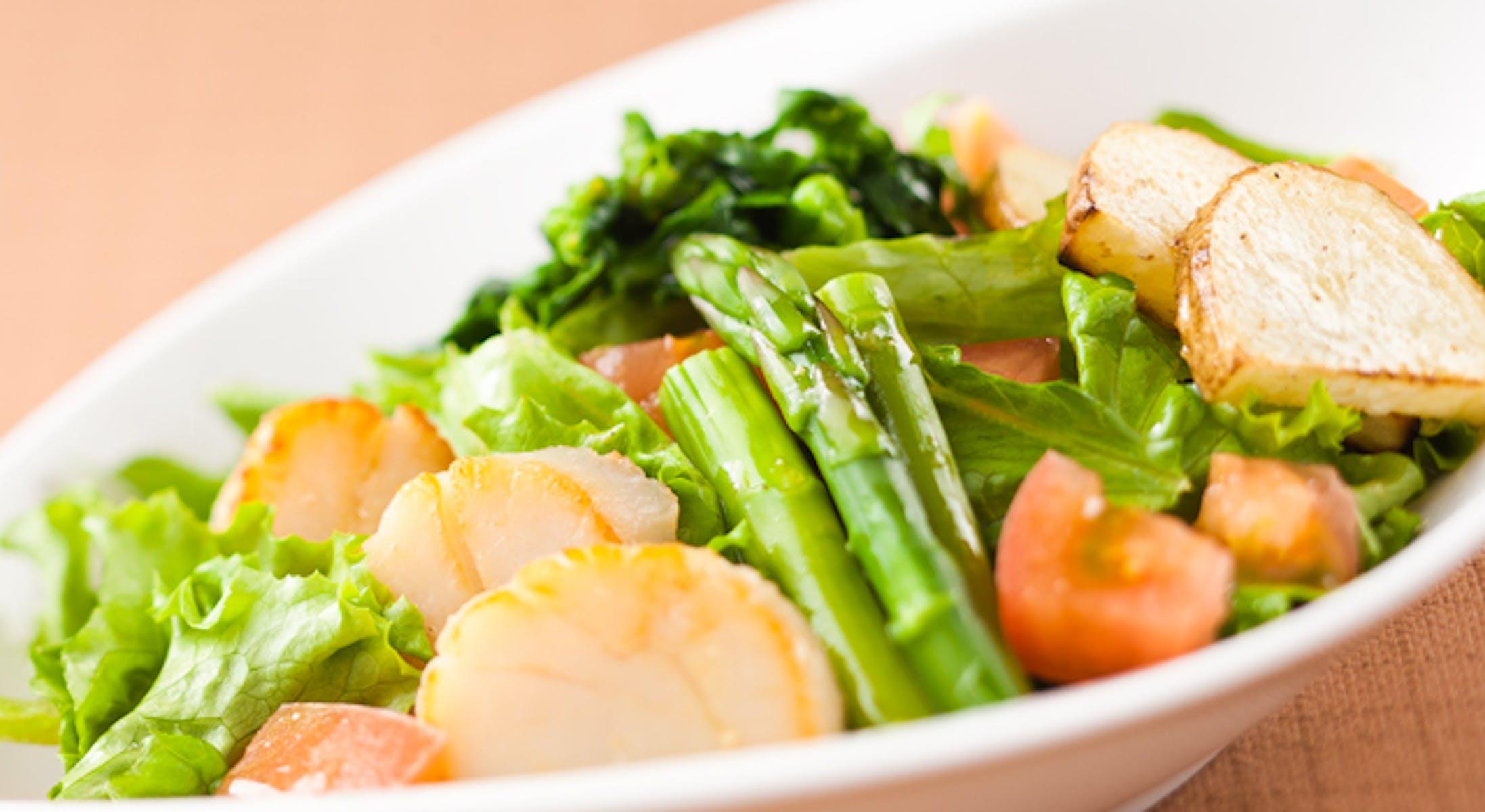 ほたてと春野菜のサラダ