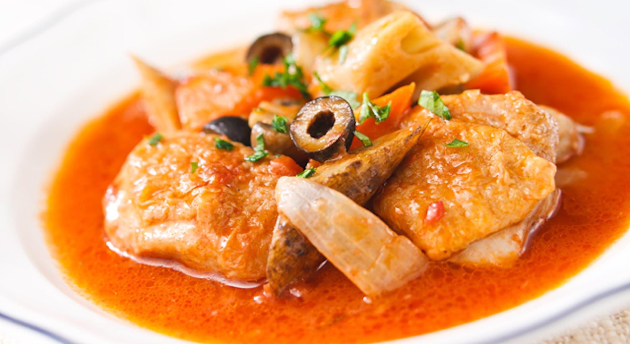鶏肉と根菜のカチャトーラ