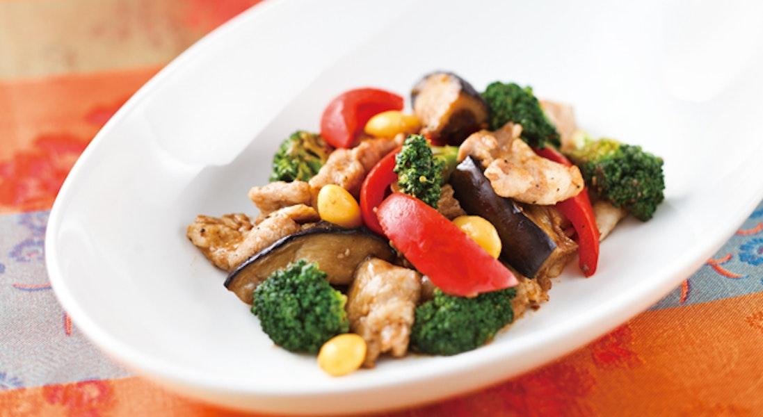 豚肉と彩り野菜の豆鼓炒め