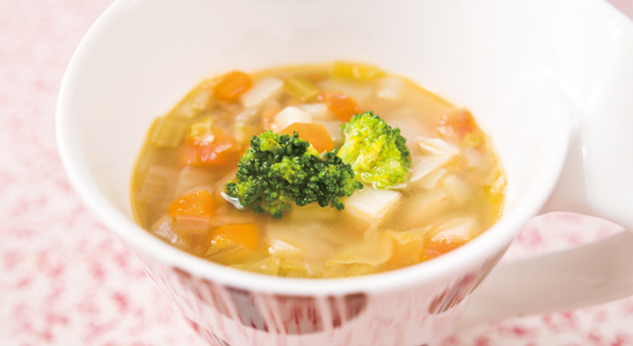 レンズ豆と野菜のスープ