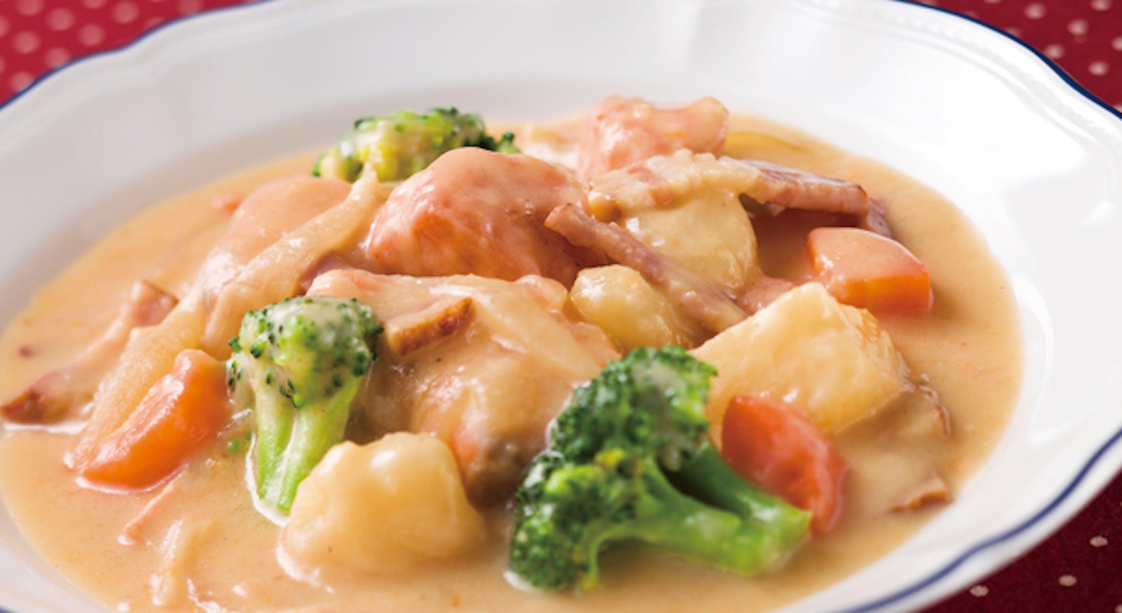 鮭とたっぷり野菜のクリームシチュー