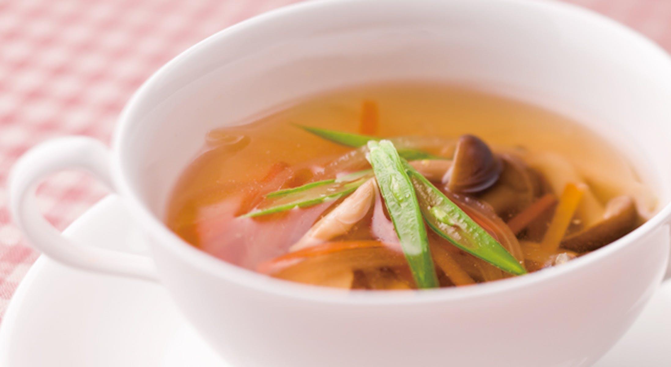 きのこと野菜のスープ