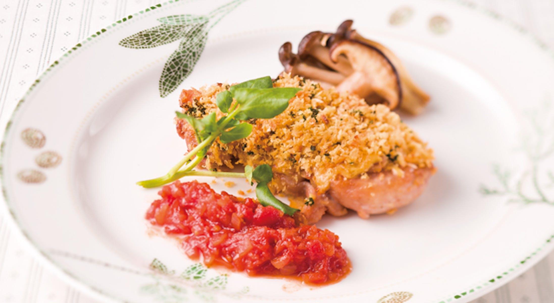 鶏肉のローストのトマト風味