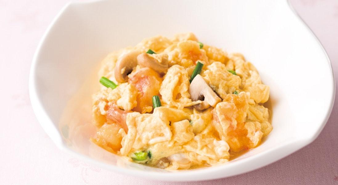 ふわふわ卵とえびの炒め物