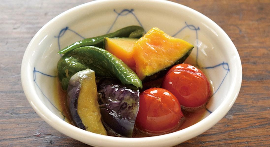 たっぷり夏野菜の揚げびたし