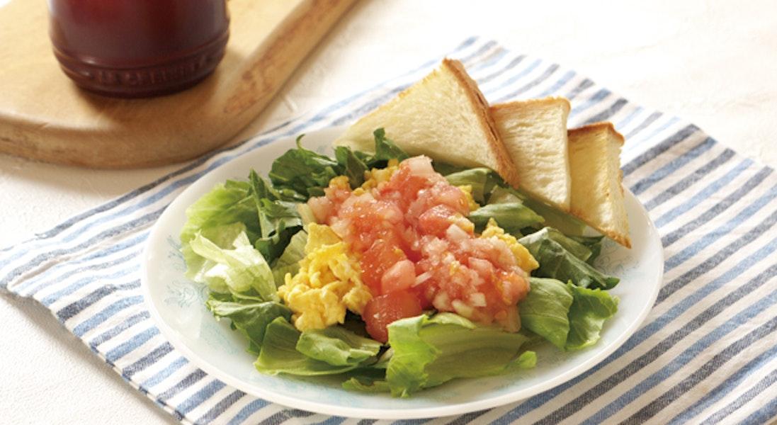 レタスと卵のサラダ(トマトドレッシング)