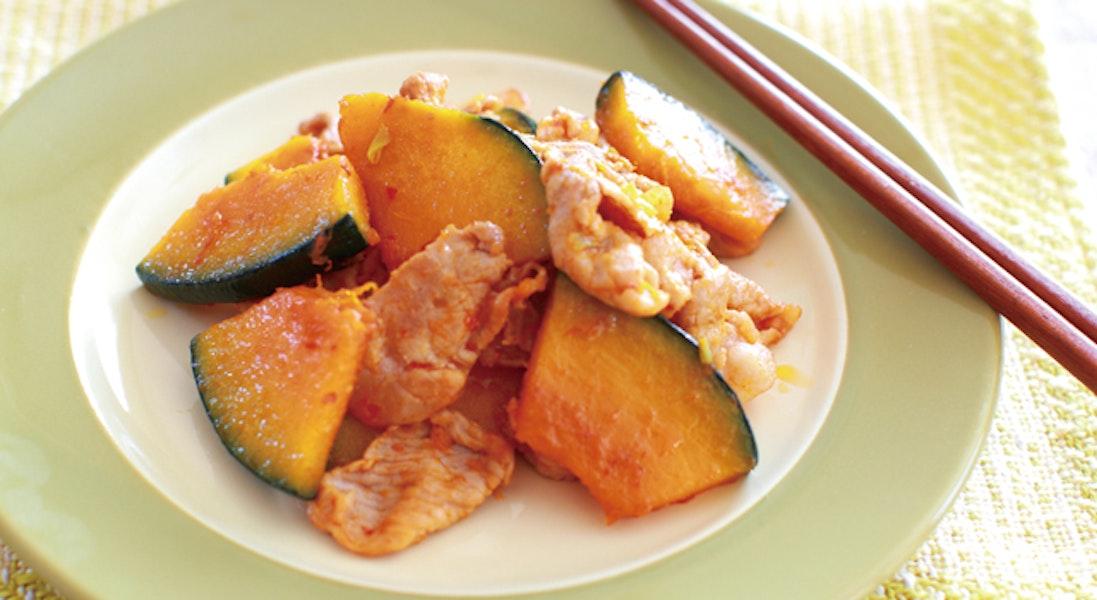 豚肉とかぼちゃの炒め物