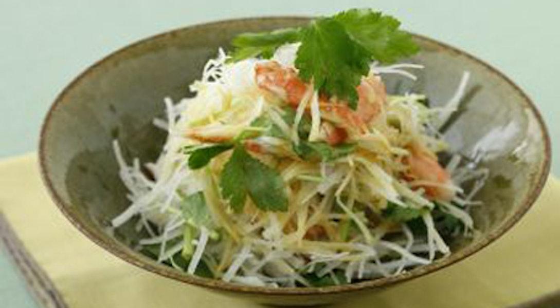 大根とかに、せん切り生姜のサラダ