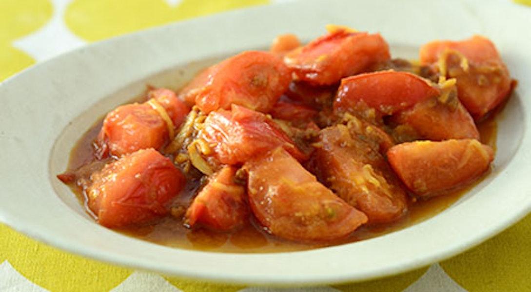 トマトの肉みそ炒め