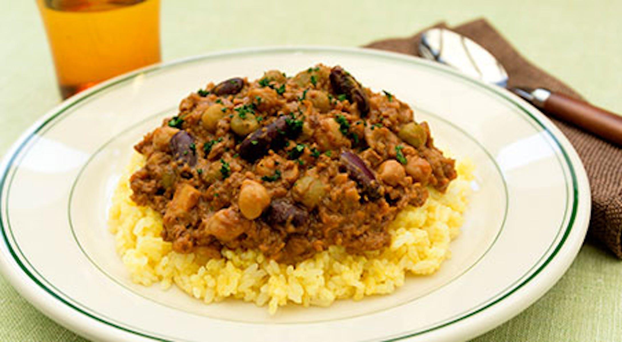 大豆のお肉でヘルシードライカレー
