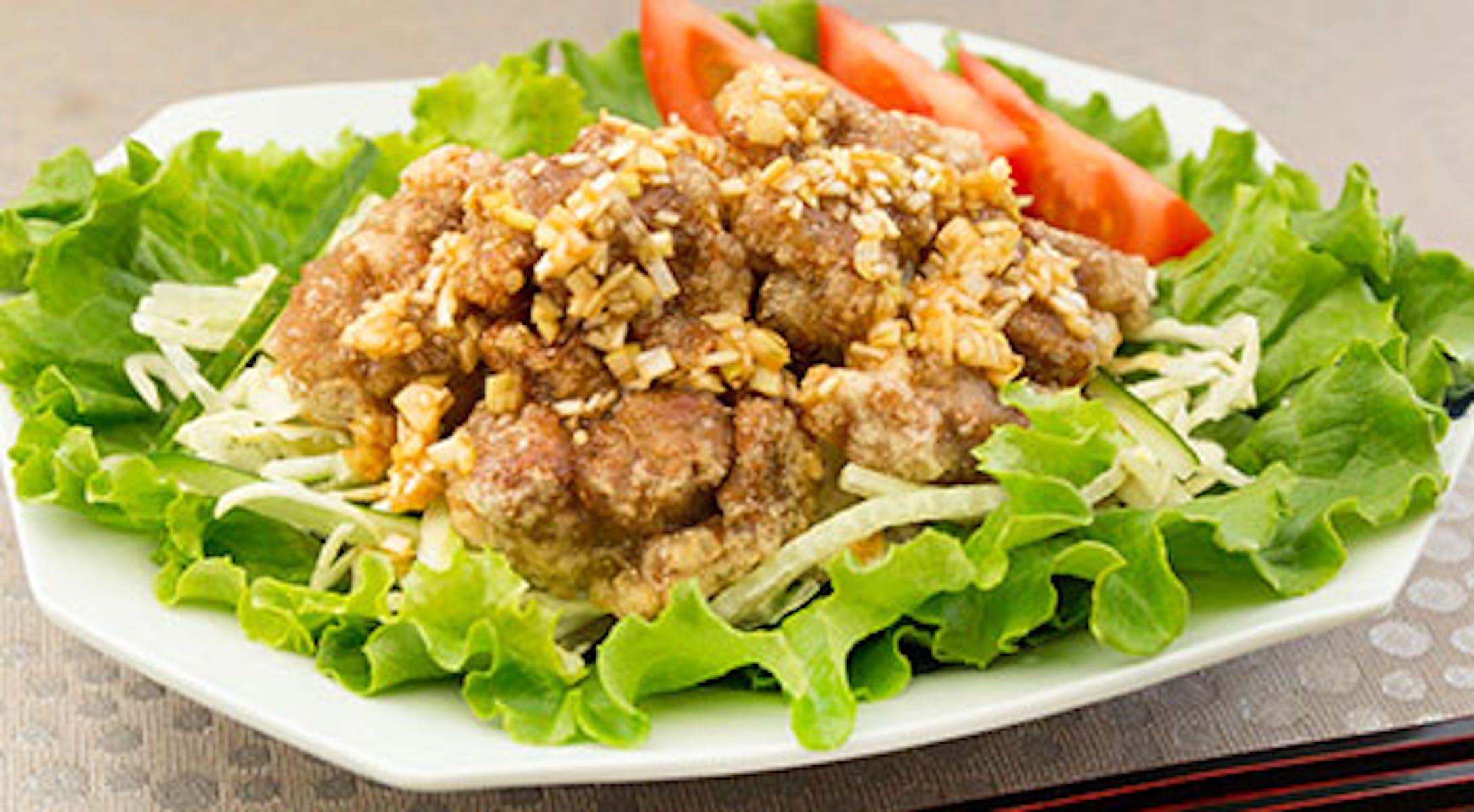 大豆のお肉でヘルシー油淋鶏