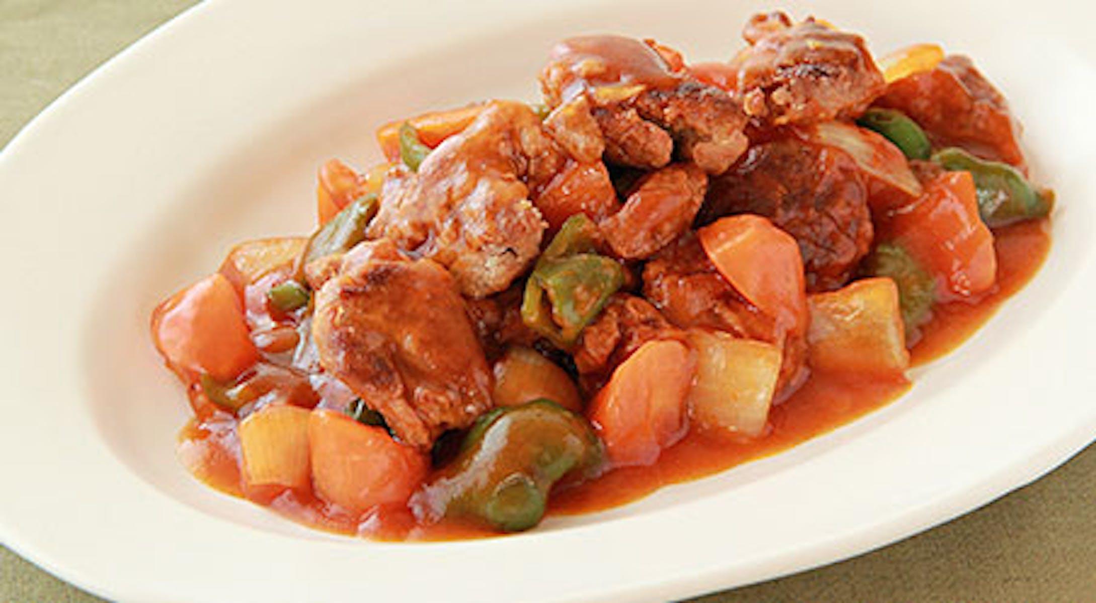 大豆肉のヘルシー酢豚