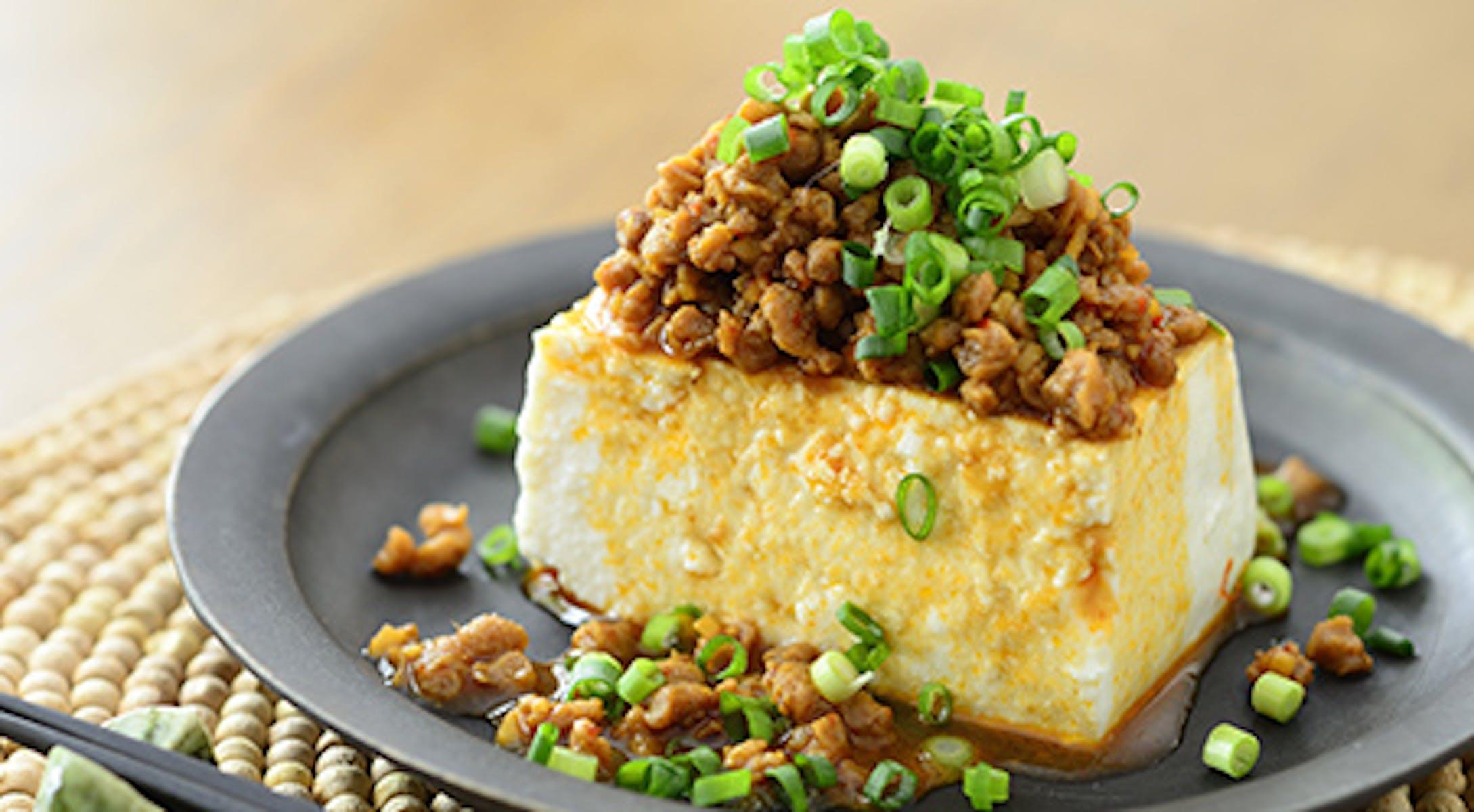 大豆肉の中華そぼろ豆腐