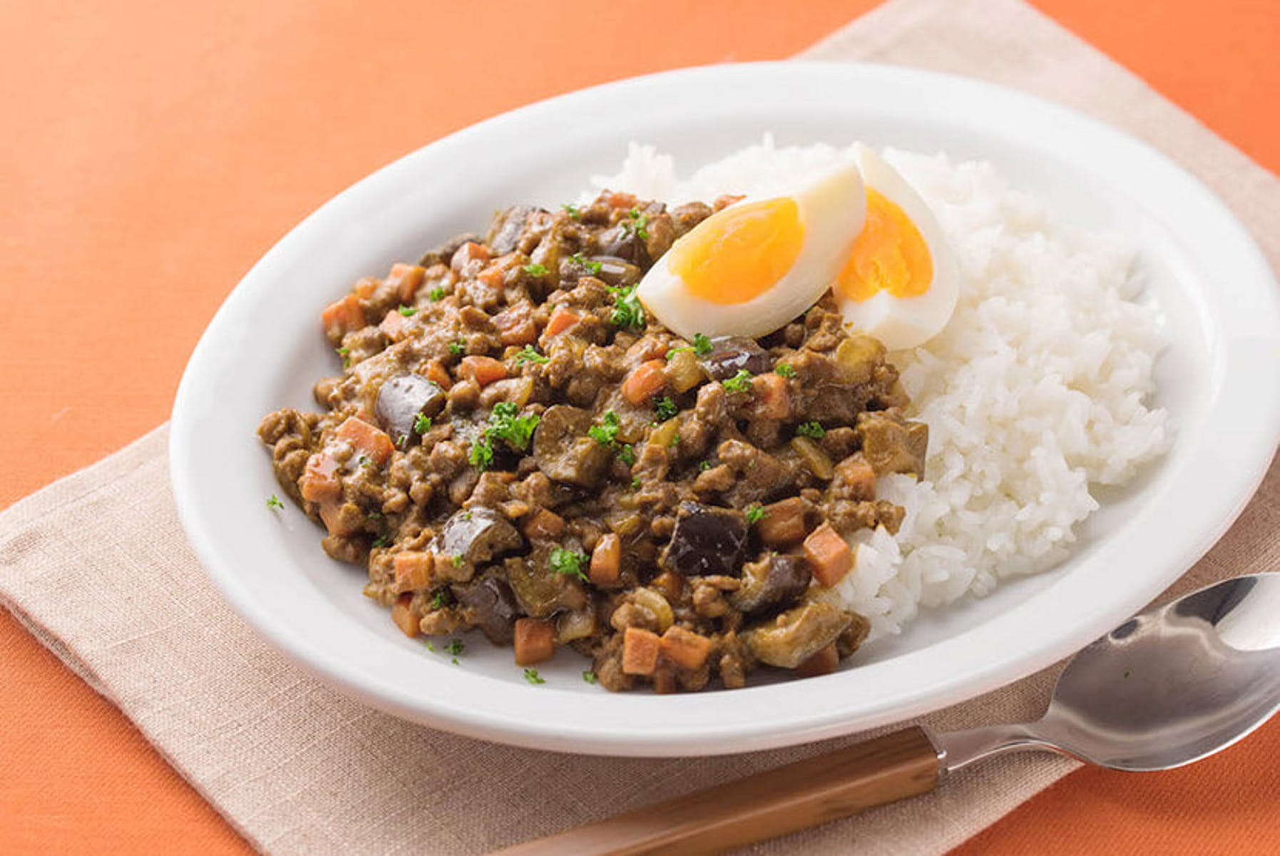 大豆のお肉のドライカレー