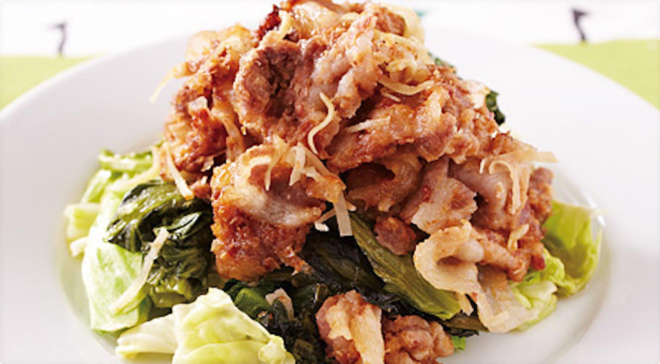 野菜の炒り豚