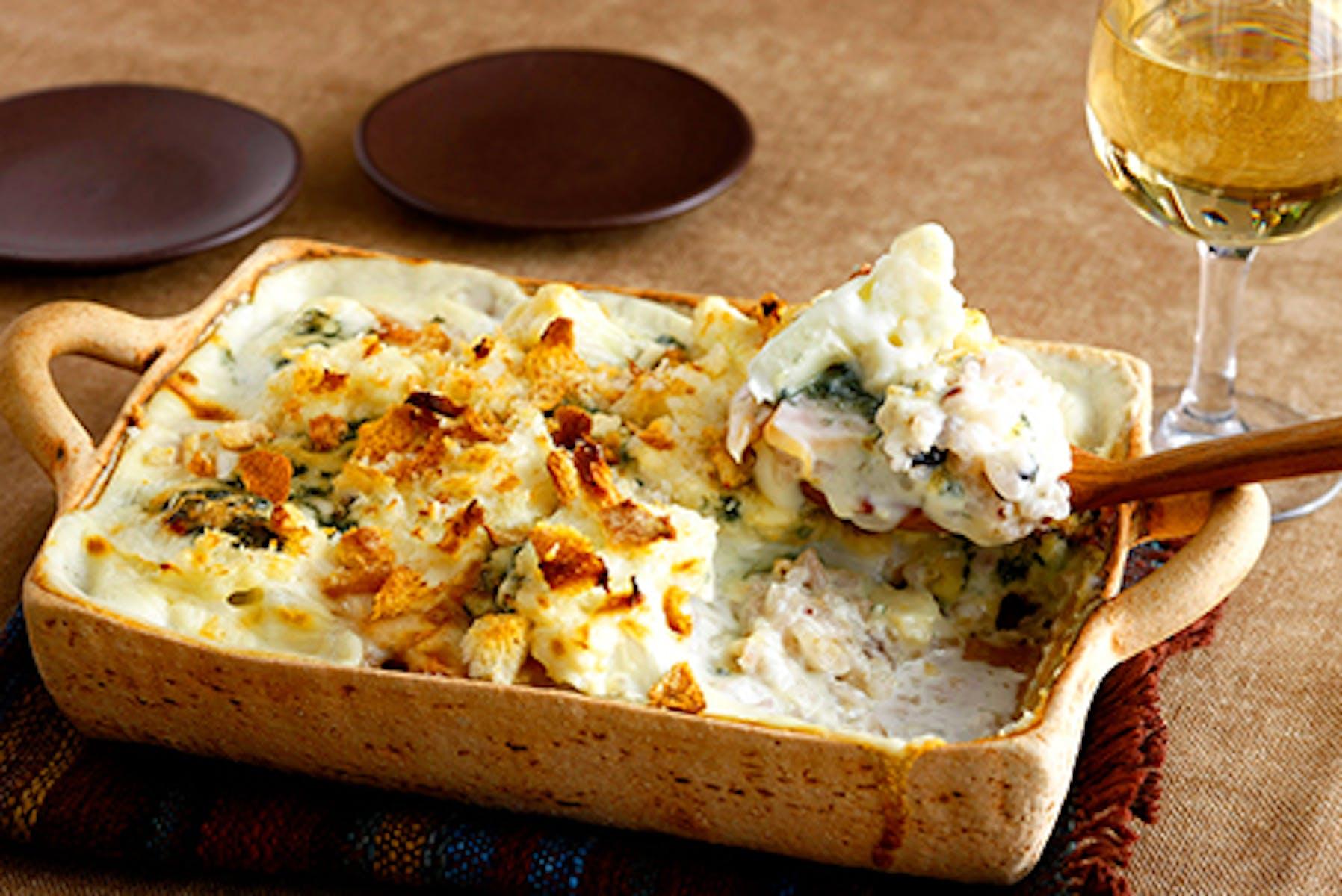 ブルーチーズを使ったカリフラワーと雑穀のドリア