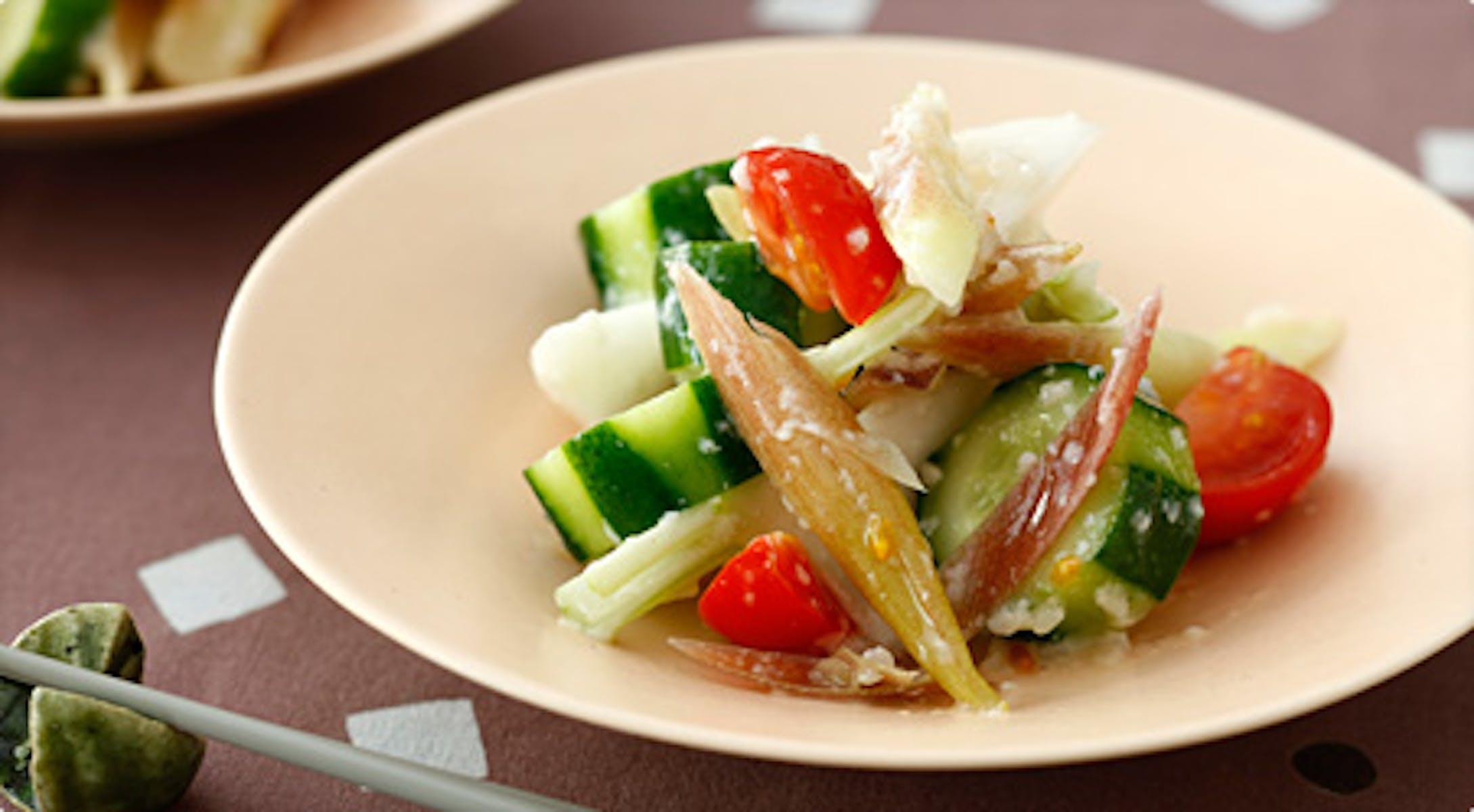 野菜の塩糀和え