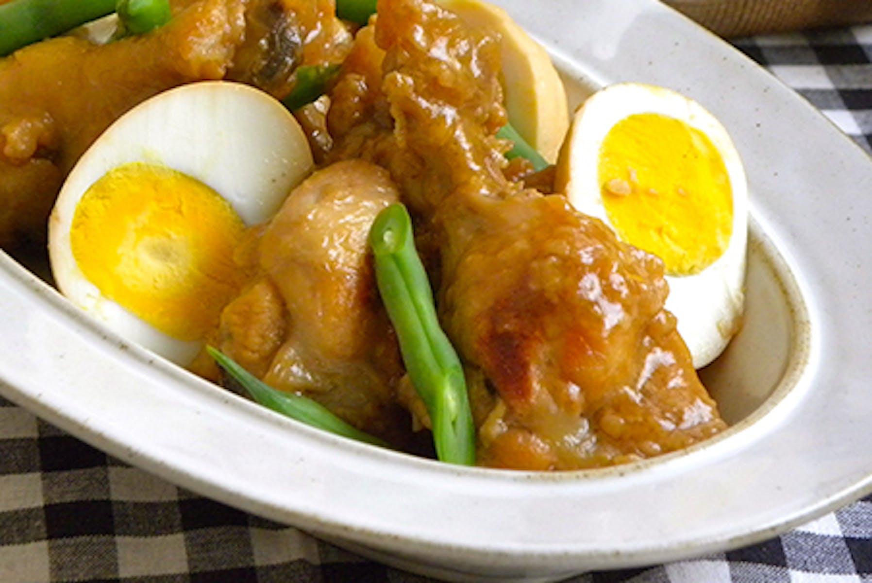 鶏手羽元と糀のさっぱり煮