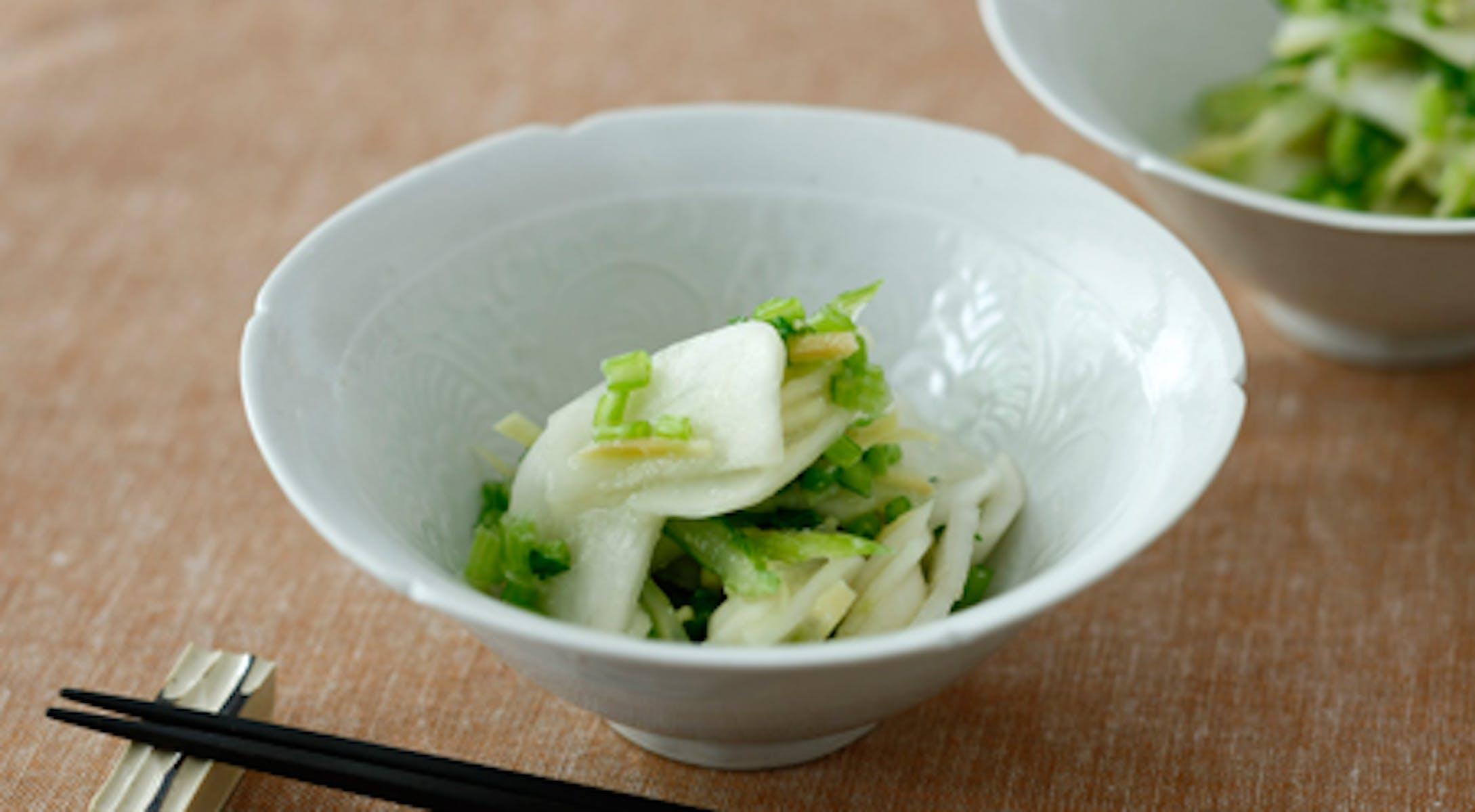 野菜の塩糀生姜即席漬け