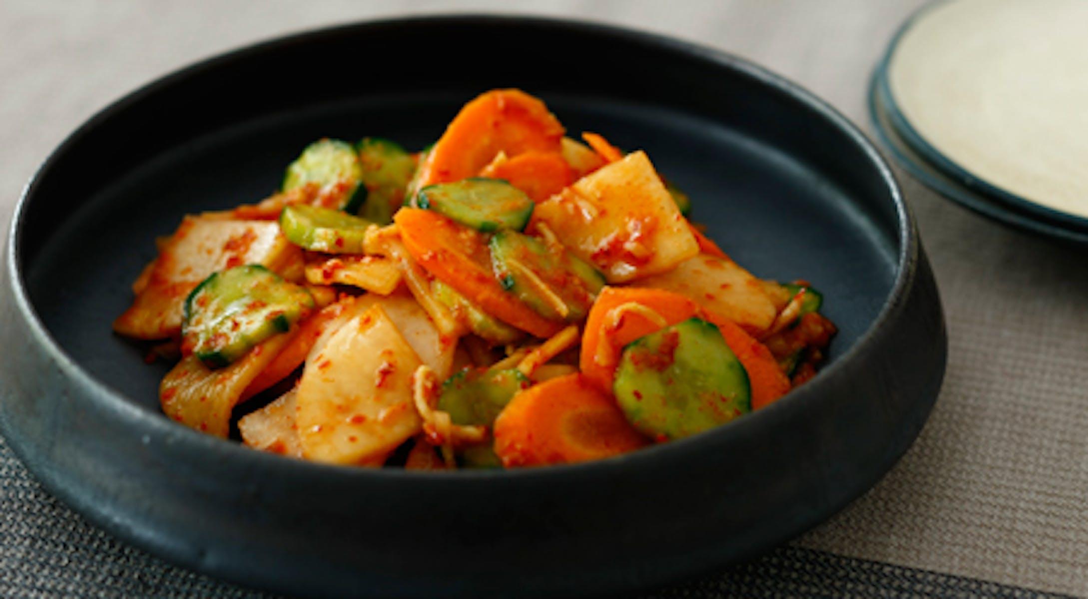 いろいろ野菜のキムチ風漬物