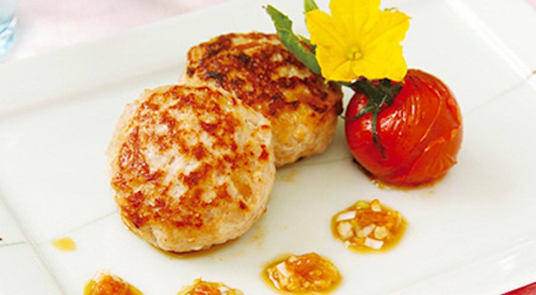 鶏肉ハンバーグ しょうゆ糀スタミナだれ