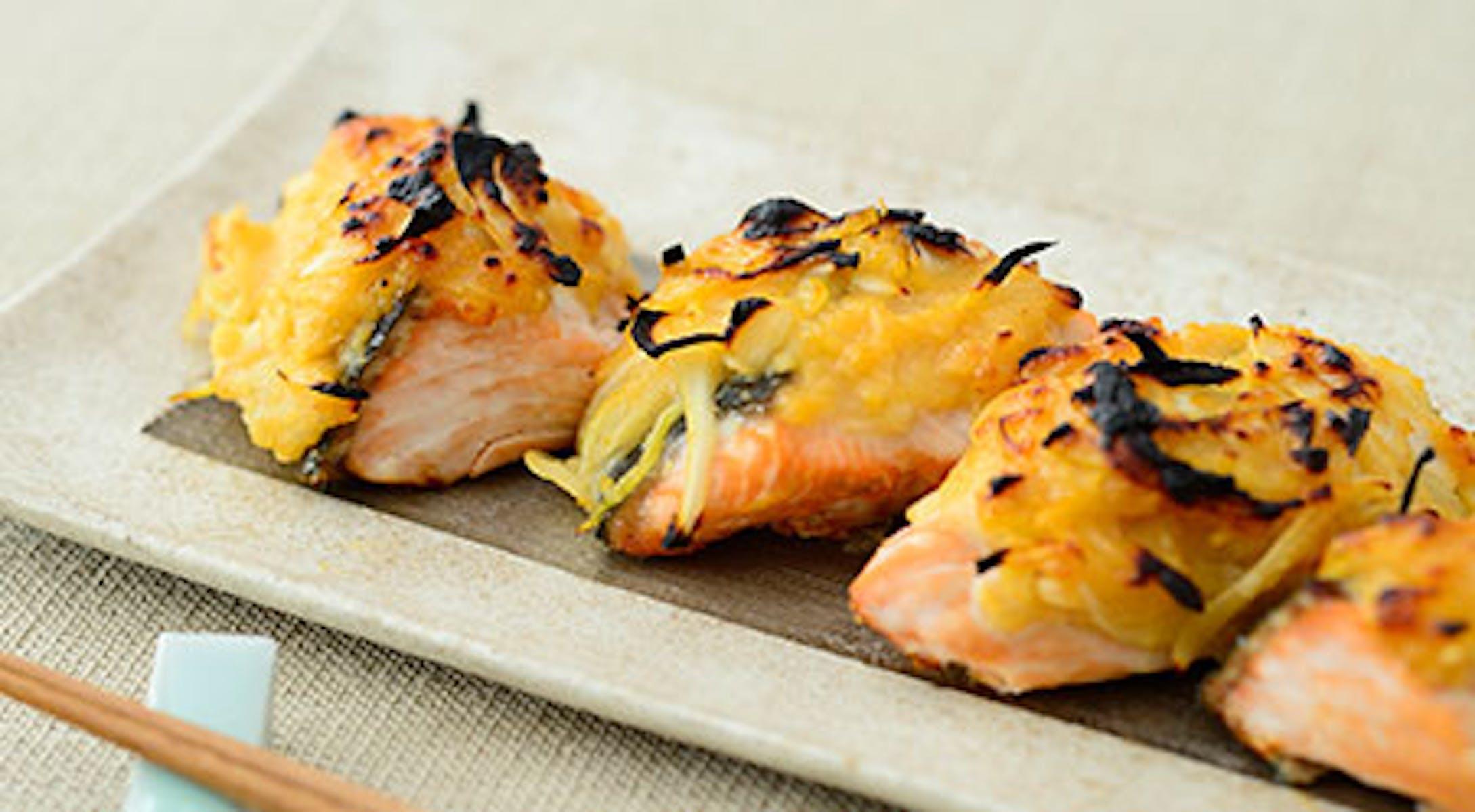 鮭のオニオンレモンみそ焼き
