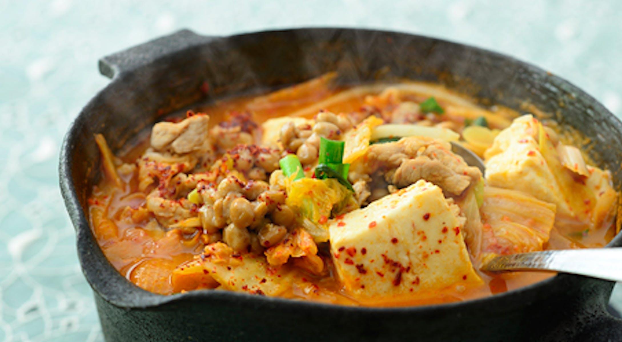 納豆豆腐チゲ