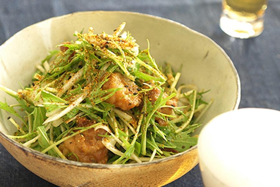 水菜の唐揚げサラダ