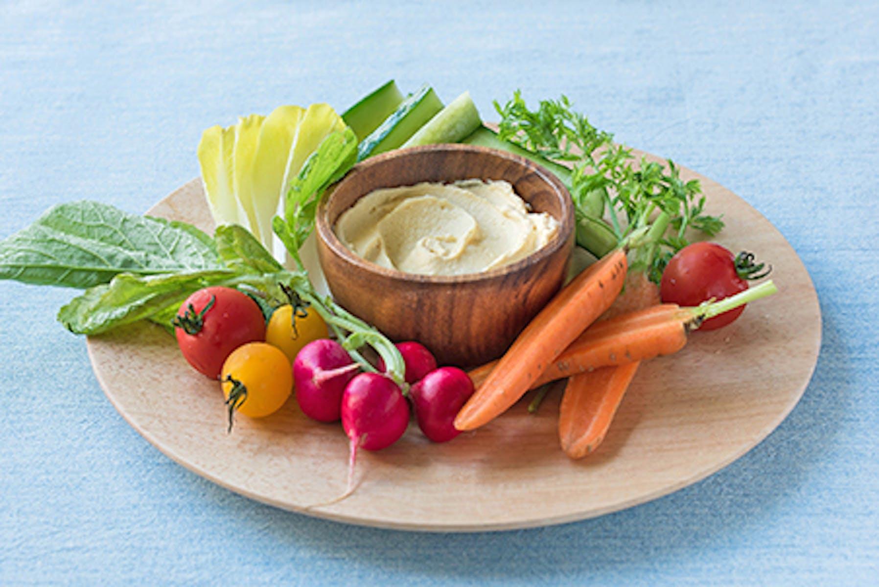 彩り野菜の豆腐みそディップ