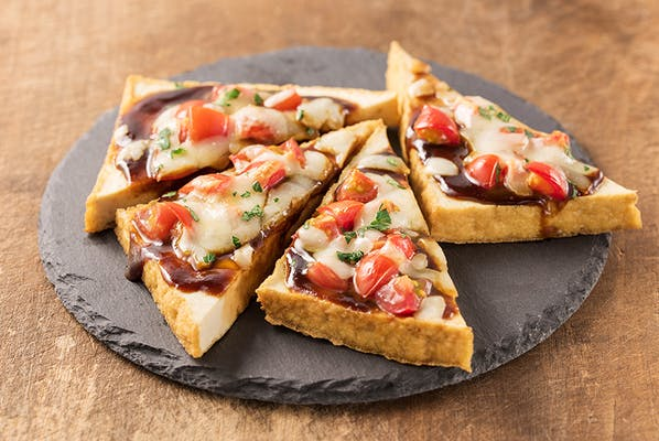 厚揚げ田楽のピザ仕立て