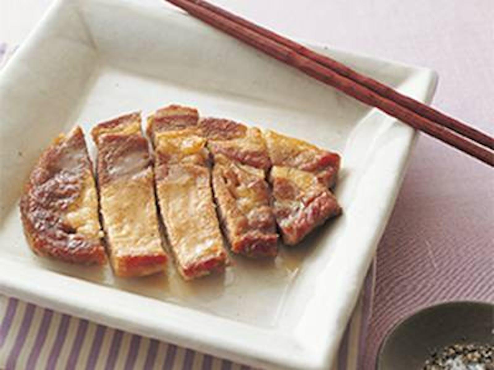 豚ロース肉のフライパンソテー