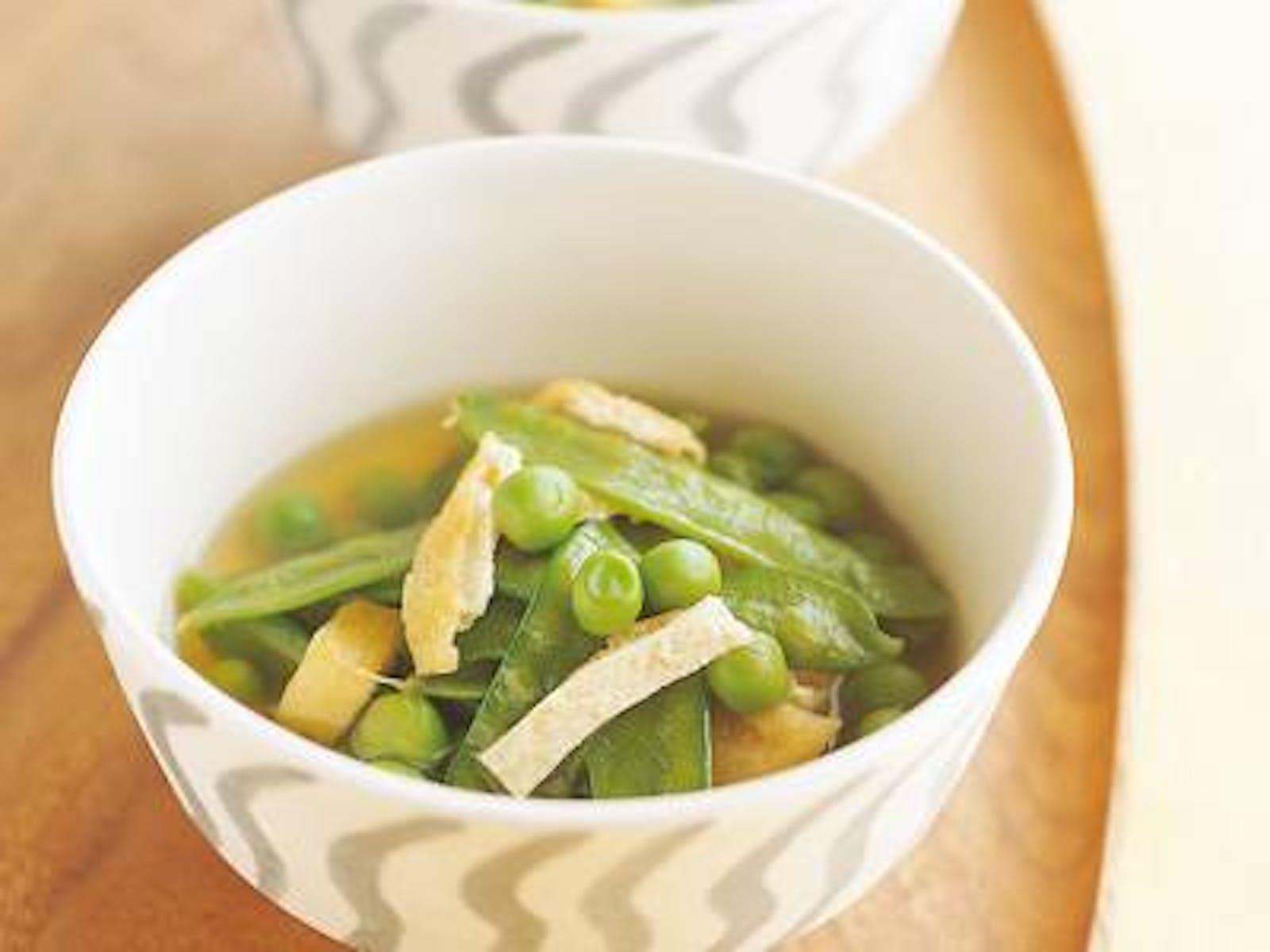 冷凍豆と油揚げの煮びたし